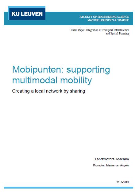 Mobipunten: supporting multimodal mobility